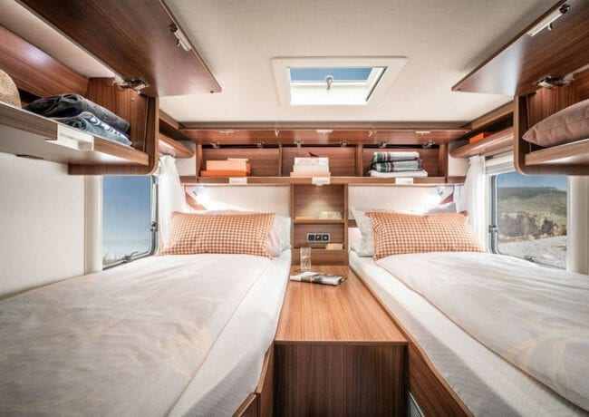 Hymer MLT Bed